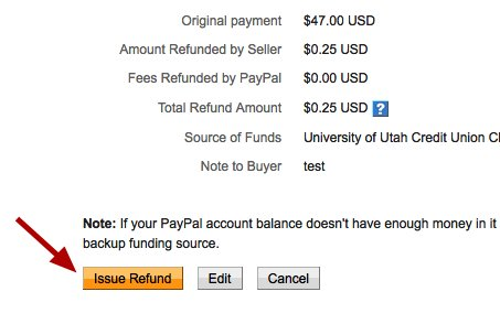 how to send refund on paypal